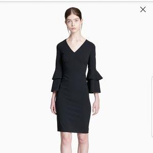 NWT Calvin Klein V-neck Tiered Sleeve Dress 10